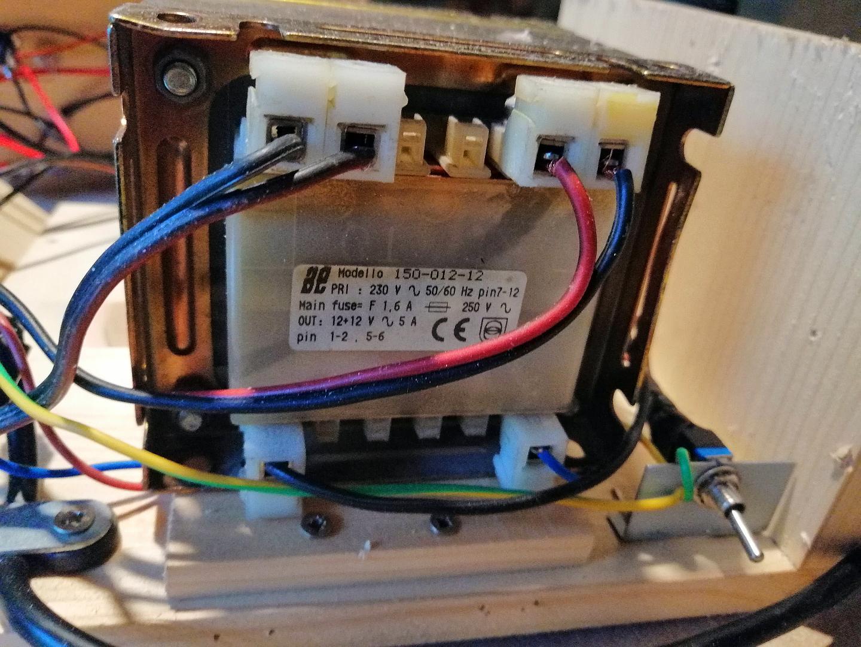 Trasformatore usato per l'alimentatore variabile da laboratorio