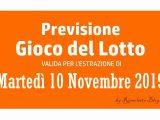 Previsione Lotto 10 Dicembre 2019
