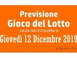 Previsione Lotto 12 Dicembre 2019