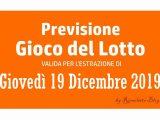 Previsione Lotto 19 Dicembre 2019