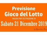 Previsione Lotto 21 Dicembre 2019