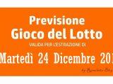 Previsione Lotto 24 Dicembre 2019