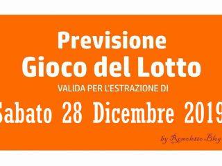 Previsione Lotto 28 Dicembre 2019