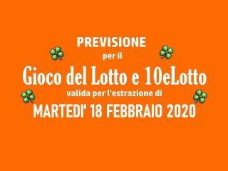 Previsione Lotto 18 Febbraio 2020