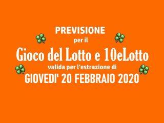 Previsione Lotto 20 Febbraio 2020