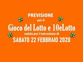 Previsione Lotto 22 Febbraio 2020