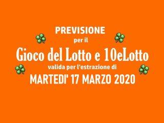 Previsione Lotto 17 Marzo 2020