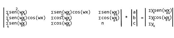 Sistema finale Regressione trigonometrica