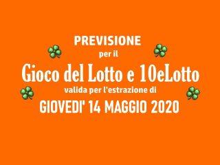 Previsione Lotto 14 Maggio 2020