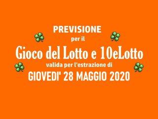 Previsione Lotto 28 Maggio 2020