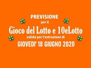Previsione Lotto 18 Giugno 2020