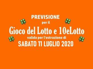 Previsione Lotto 11 Luglio 2020