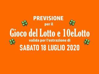 Previsione Lotto 18 Luglio 2020