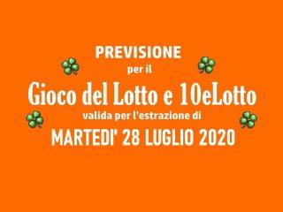 Previsione Lotto 28 Luglio 2020