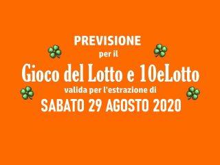 Previsione Lotto 29 Agosto 2020