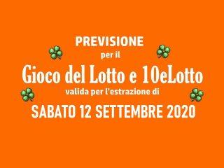 Previsione Lotto 12 Settembre 2020