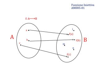Analisi Matematica - Paniere Ecampus - Funzione Iniettiva - AM005-01