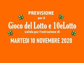 Previsione Lotto 10 Novembre 2020