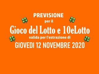Previsione Lotto 12 Novembre 2020