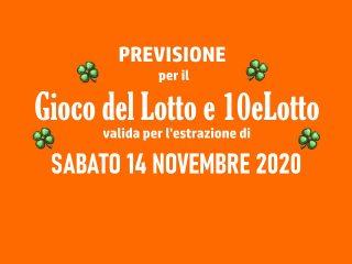 Previsione Lotto 14 Novembre 2020