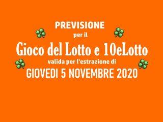 Previsione Lotto 5 Novembre 2020