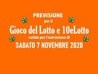 Previsione Lotto 7 Novembre 2020