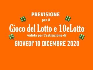 Previsione Lotto 10 Dicembre 2020