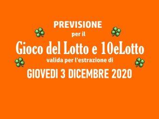 Previsione Lotto 3 Dicembre 2020