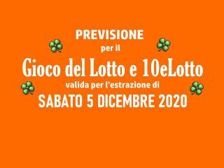 Previsione Lotto 5 Dicembre 2020