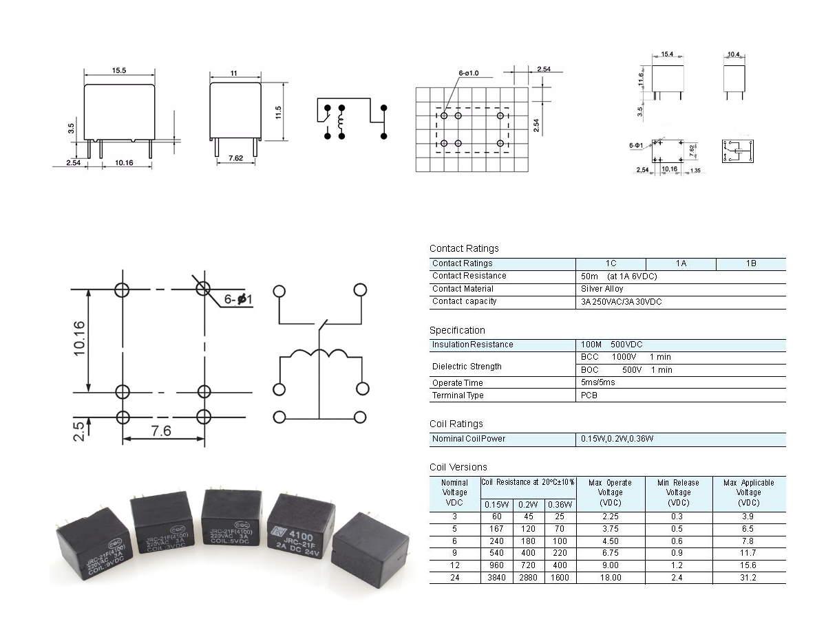 Caratteristiche Rele JRC21F4100