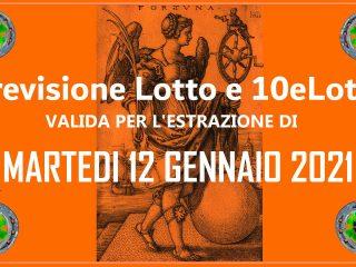 Previsione Lotto e 10eLotto del 12 Gennaio 2021