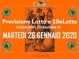 PREVISIONE LOTTO e 10eLotto n°11 di MARTEDI 26 GENNAIO 2021