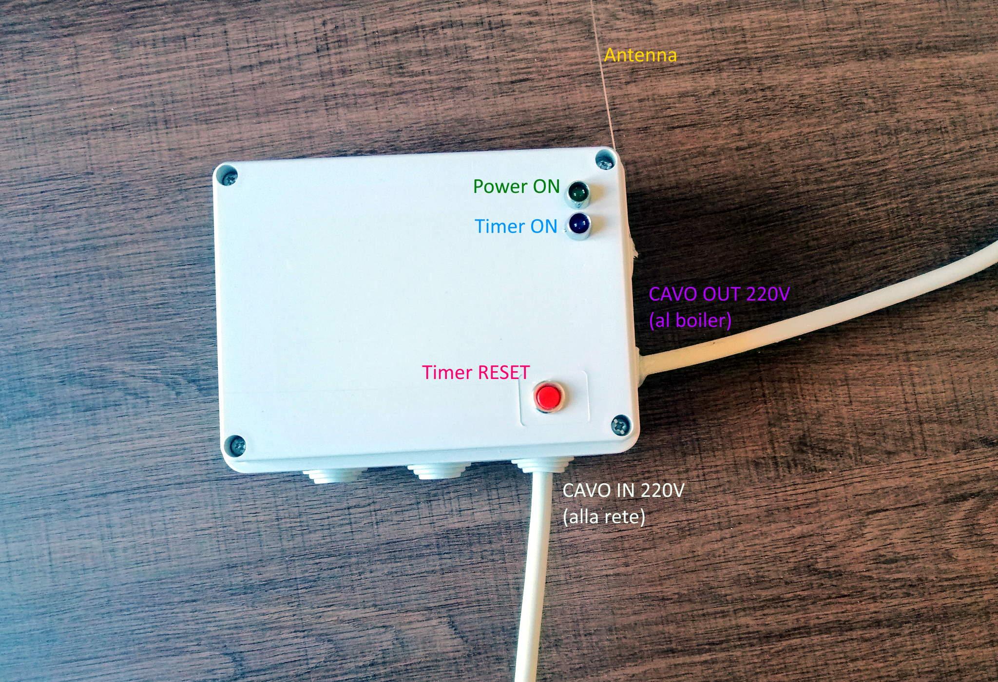 Interruttore Radiocomandato con Sensore di corrente - Aspetto esterno