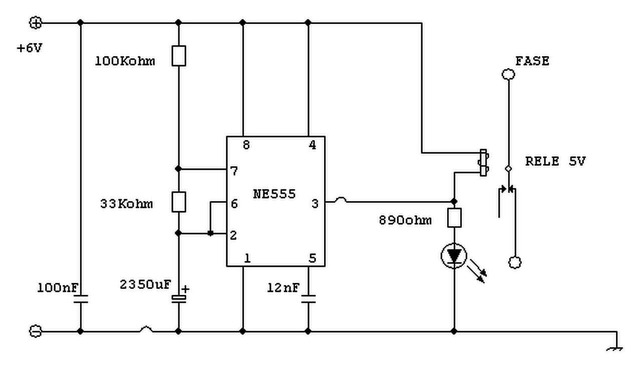 Interruttore Radiocomandato con Sensore di corrente - Multivibratore Astabile