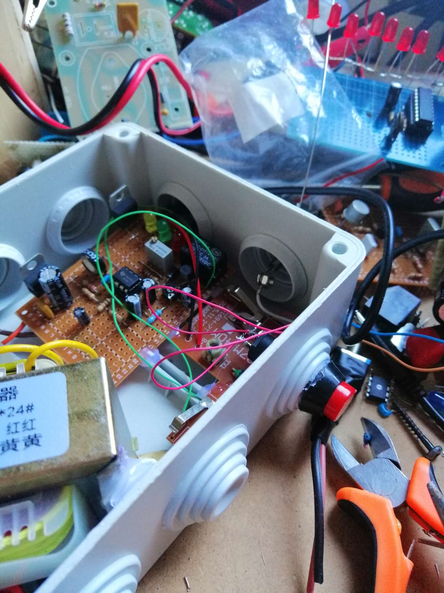 Interruttore Radiocomandato con Sensore di corrente - Particolare del pulsante di reset