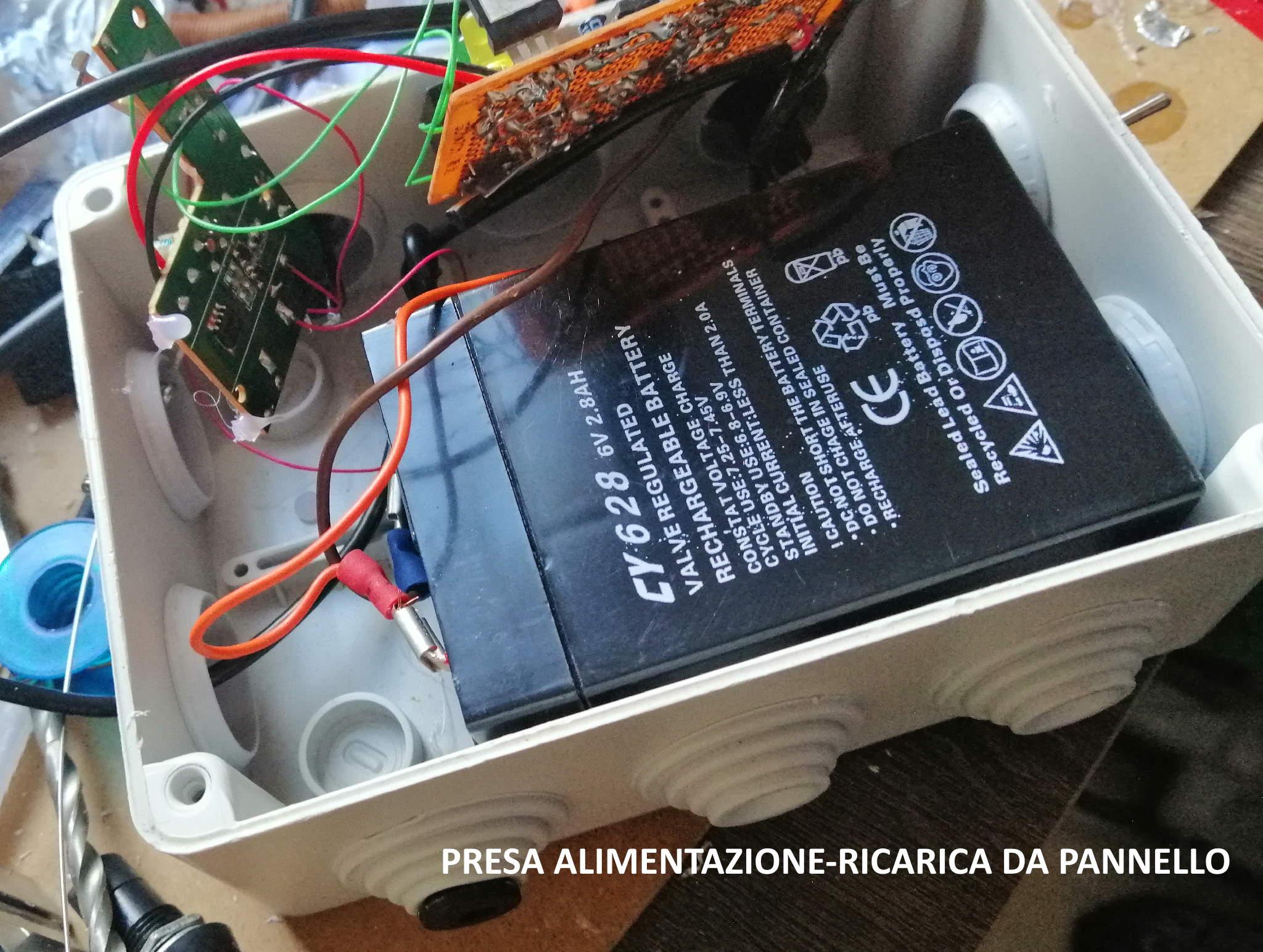 Interruttore Radiocomandato con Sensore di corrente - Presa alimentazione