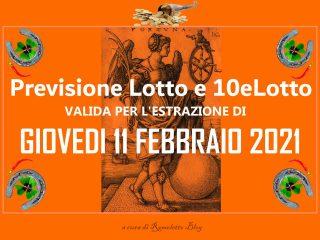 Previsione Lotto e 10eLotto del 11 Febbraio 2021