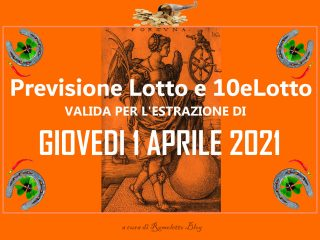 Previsione Lotto 1 Aprile 2021