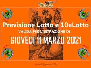 Previsione Lotto 11 Marzo 2021