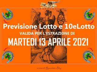 Previsione Lotto 13 Aprile 2021