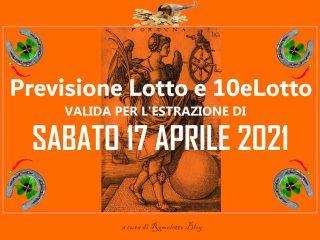 Previsione Lotto 17 Aprile 2021