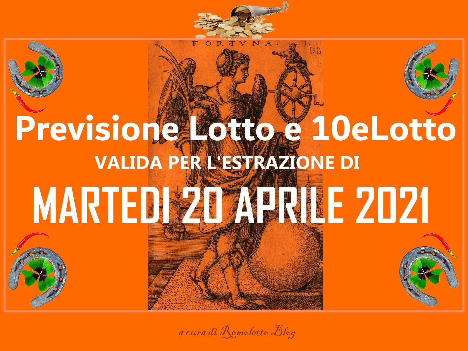 Previsione Lotto 20 Aprile 2021
