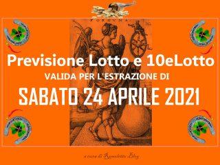 Previsione Lotto 24 Aprile 2021