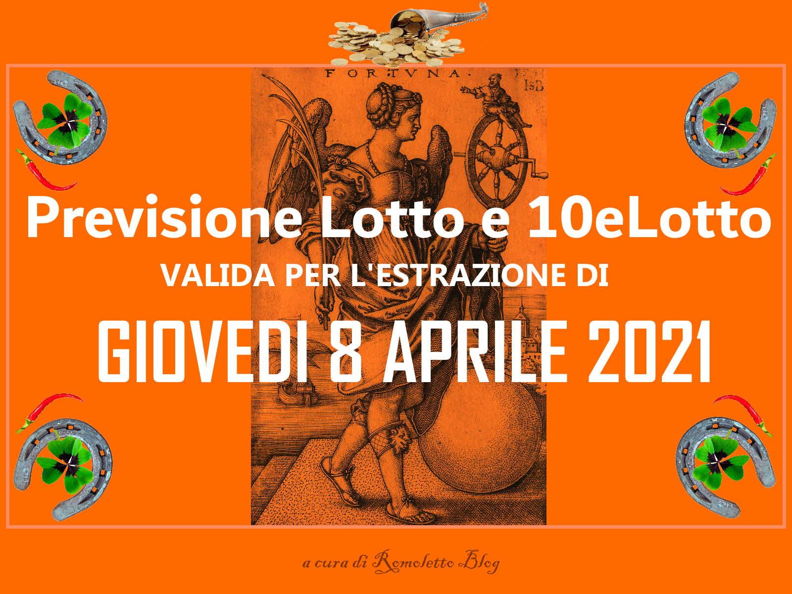 Previsione Lotto 8 Aprile 2021