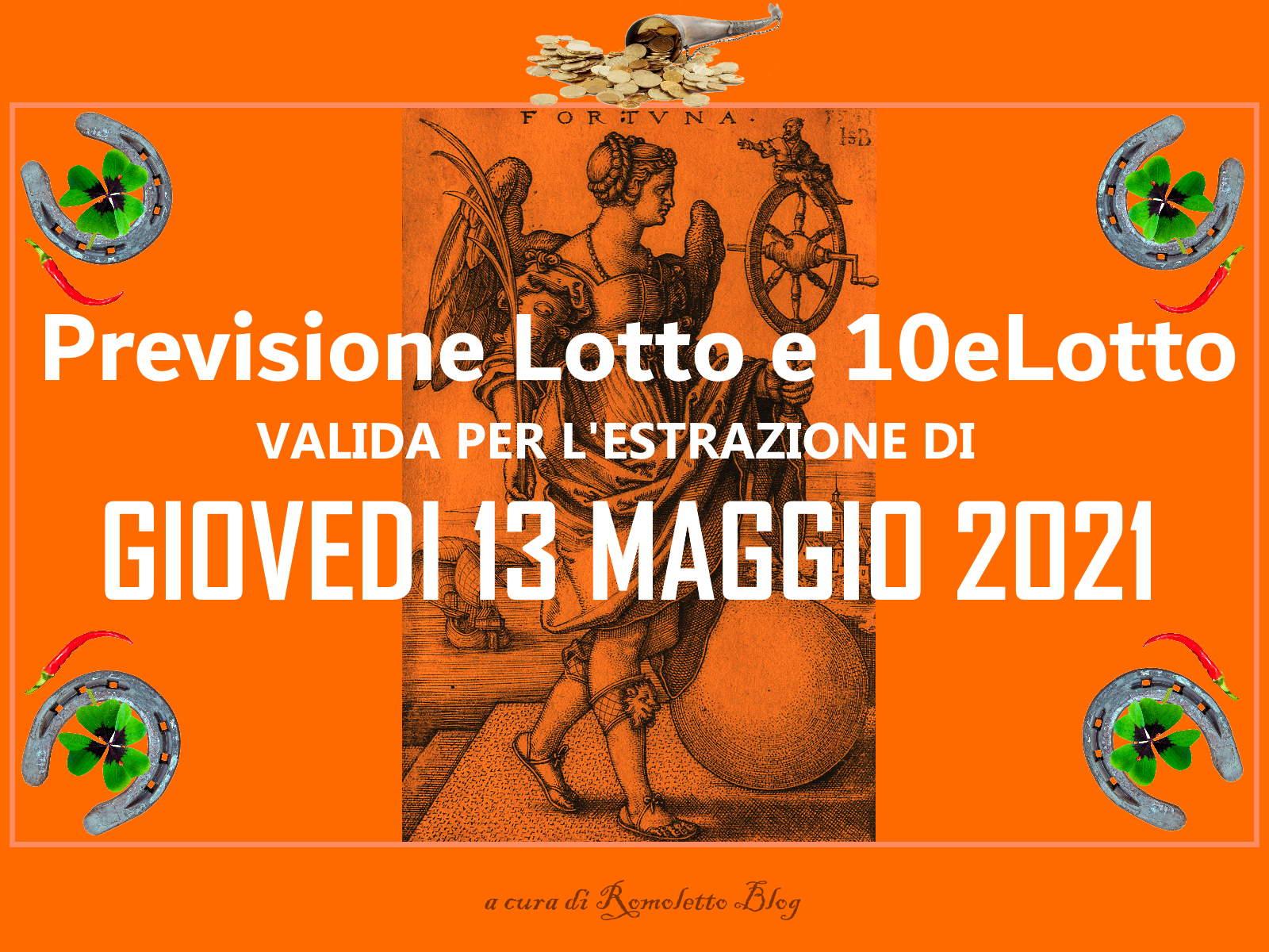 Previsione Lotto 13 Maggio 2021