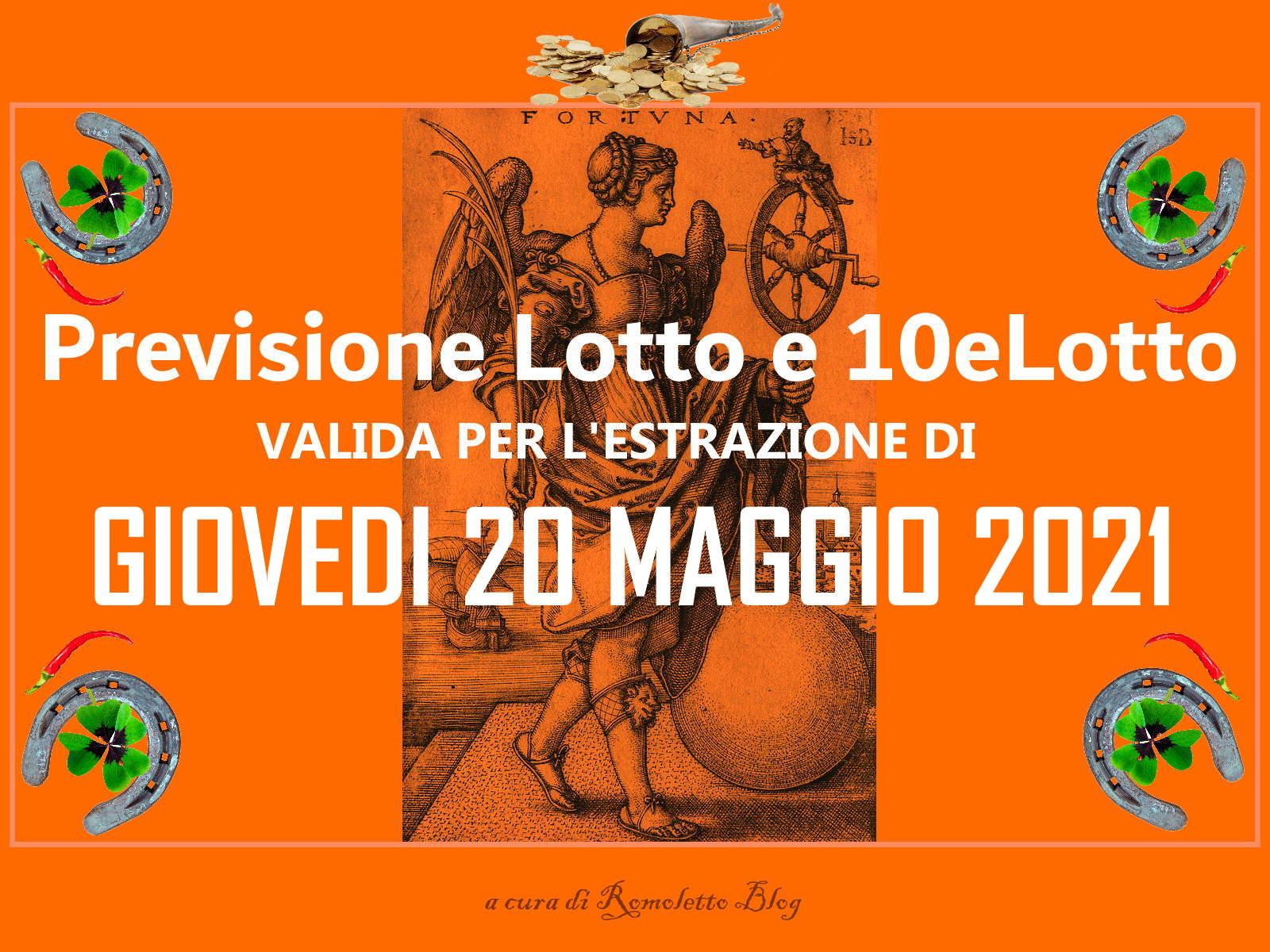 Previsione Lotto 20 Maggio 2021
