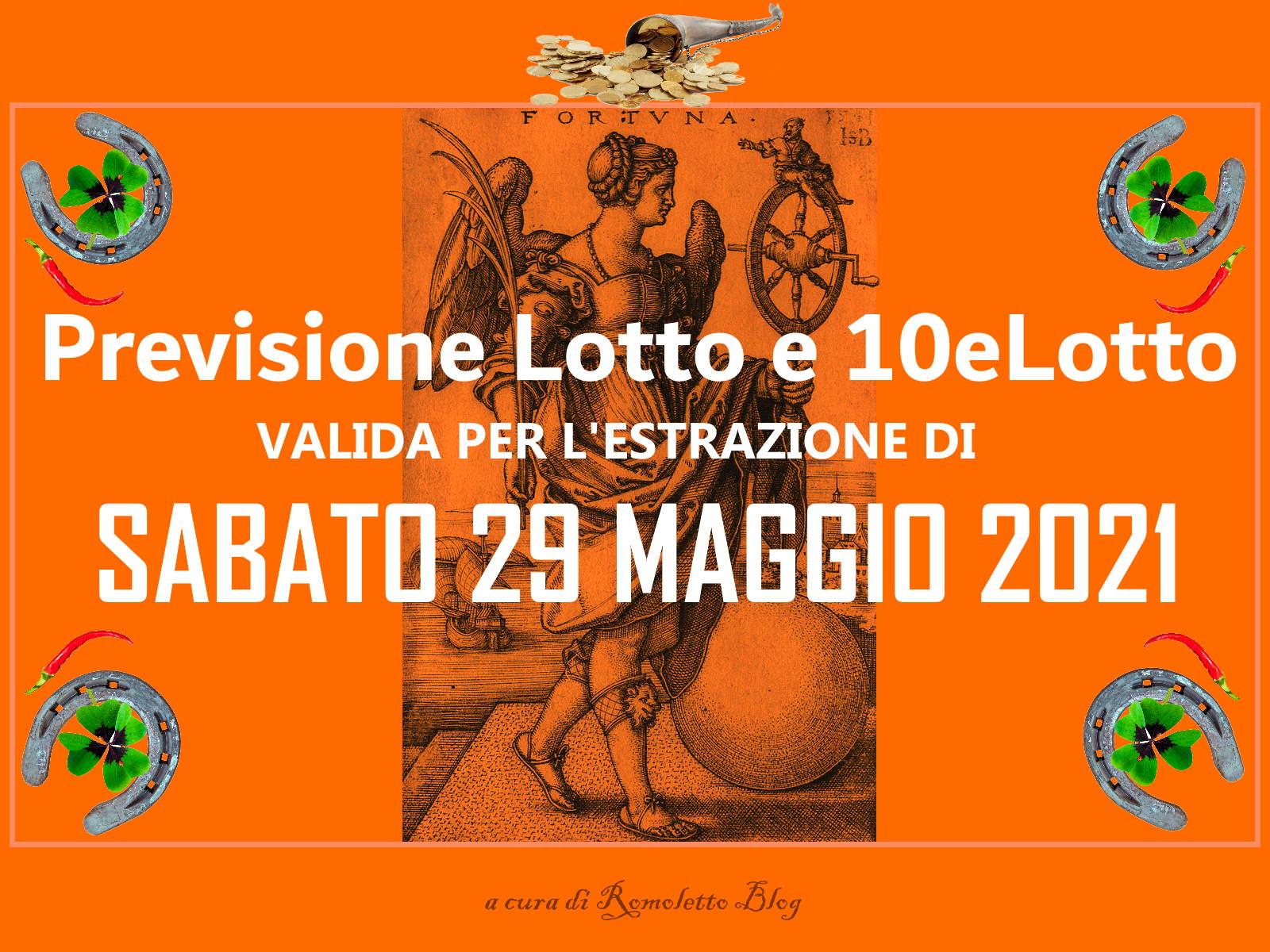 Previsione Lotto 29 Maggio 2021