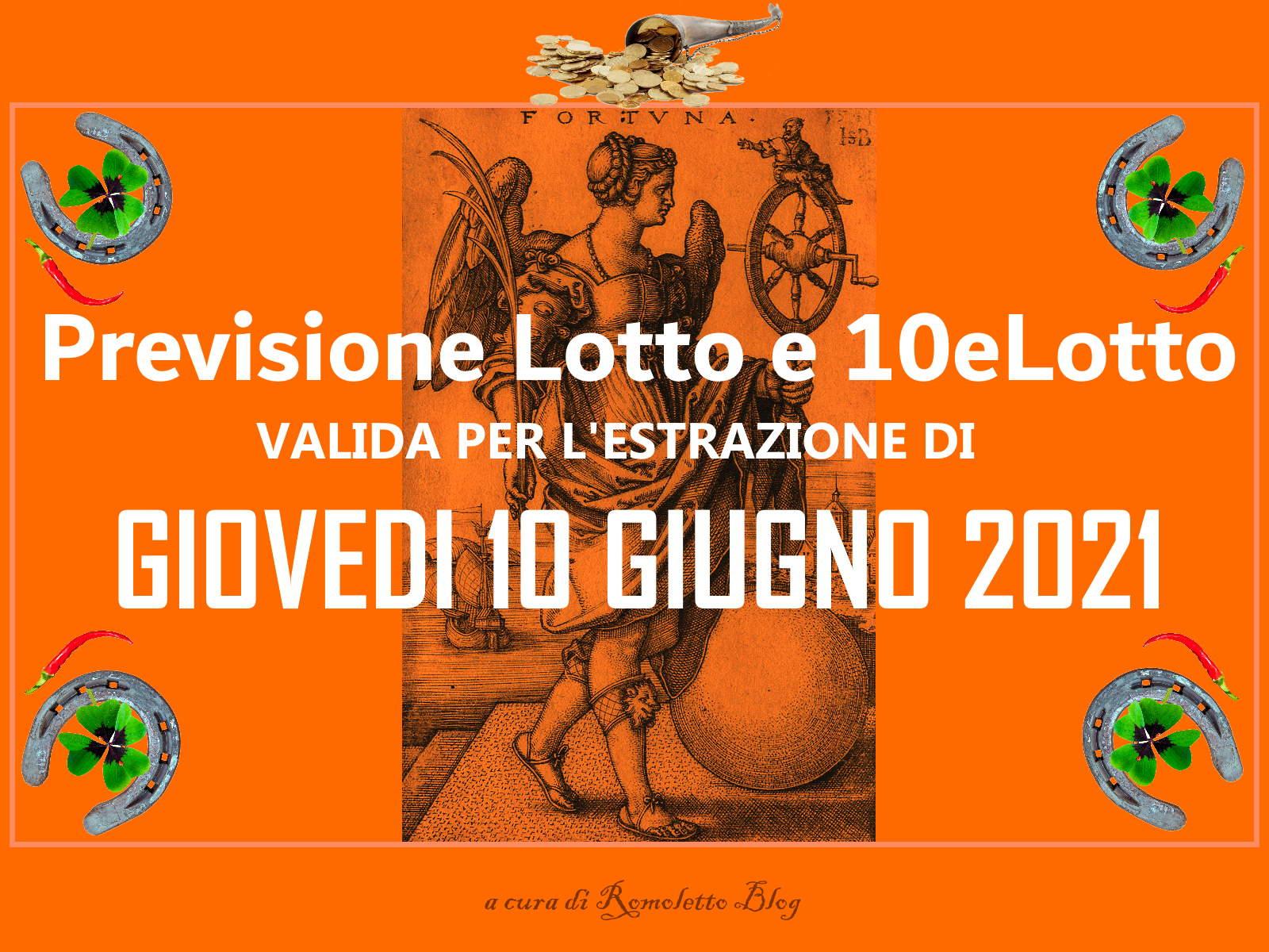Previsione Lotto 10 Giugno 2021