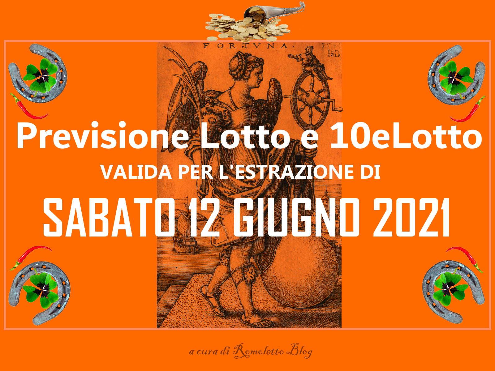 Previsione Lotto 12 Giugno 2021