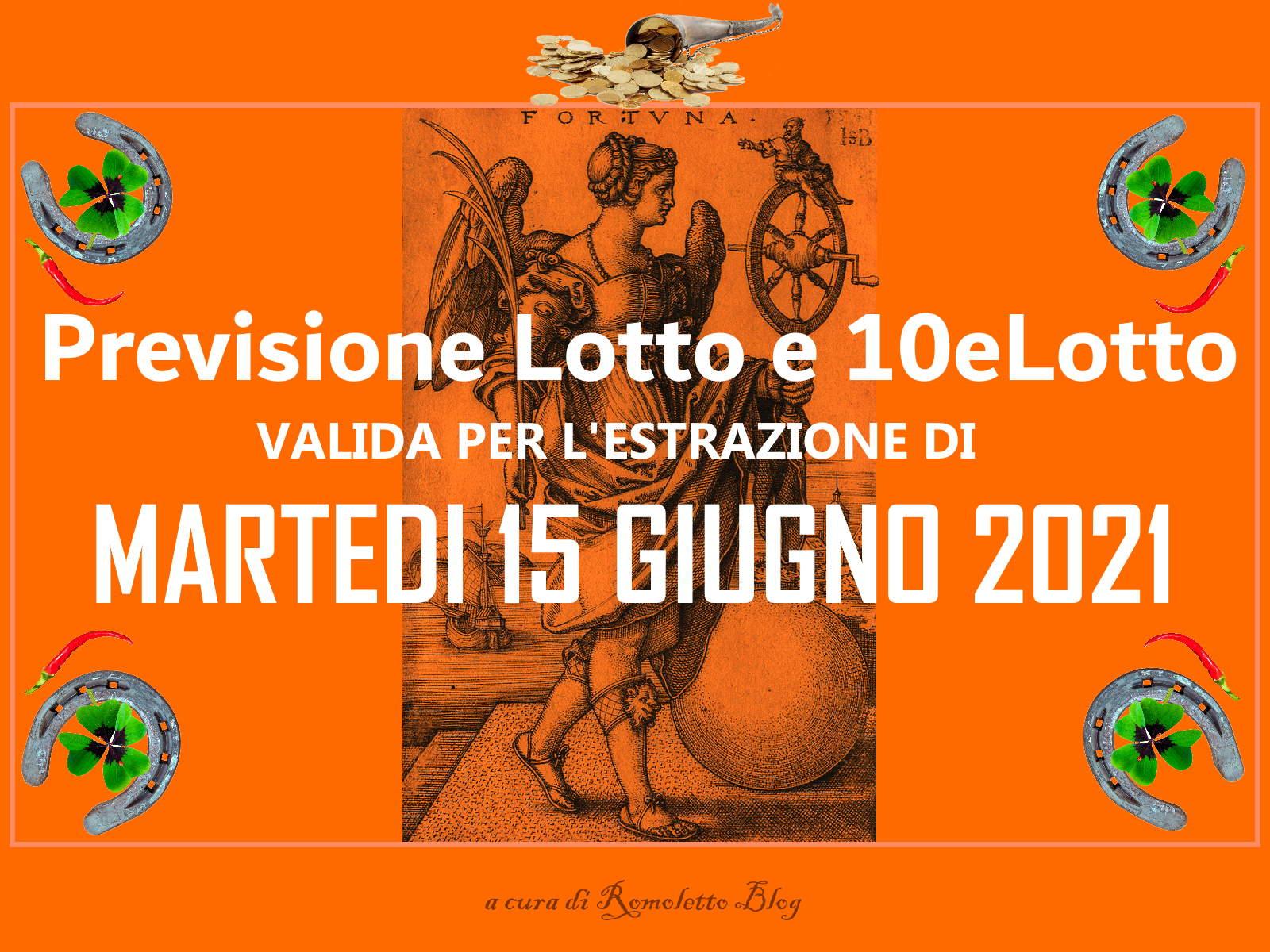 Previsione Lotto 15 Giugno 2021